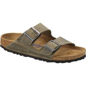 Birkenstock Arizona Sandals Oiled Leather Soft Footbed Regular, faded khaki